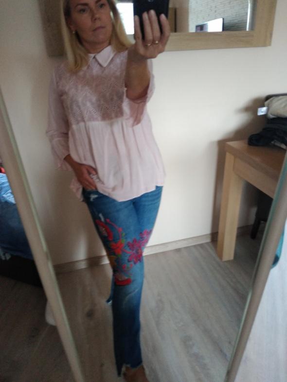 Spodnie Zara hafty