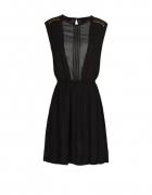 Czarna szyfonowa sukienka MANGO...