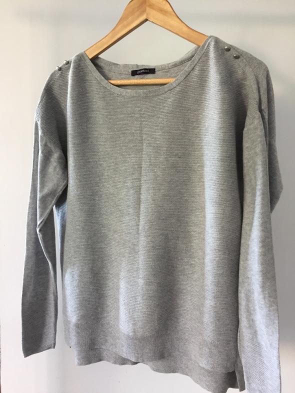 Cienki szary sweterek PROMOD rozmiar M