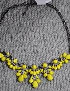 Naszyjnik żółte kwiaty NOWY