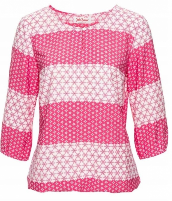 Bluzki Bluzka w różowo biały deseń r 42
