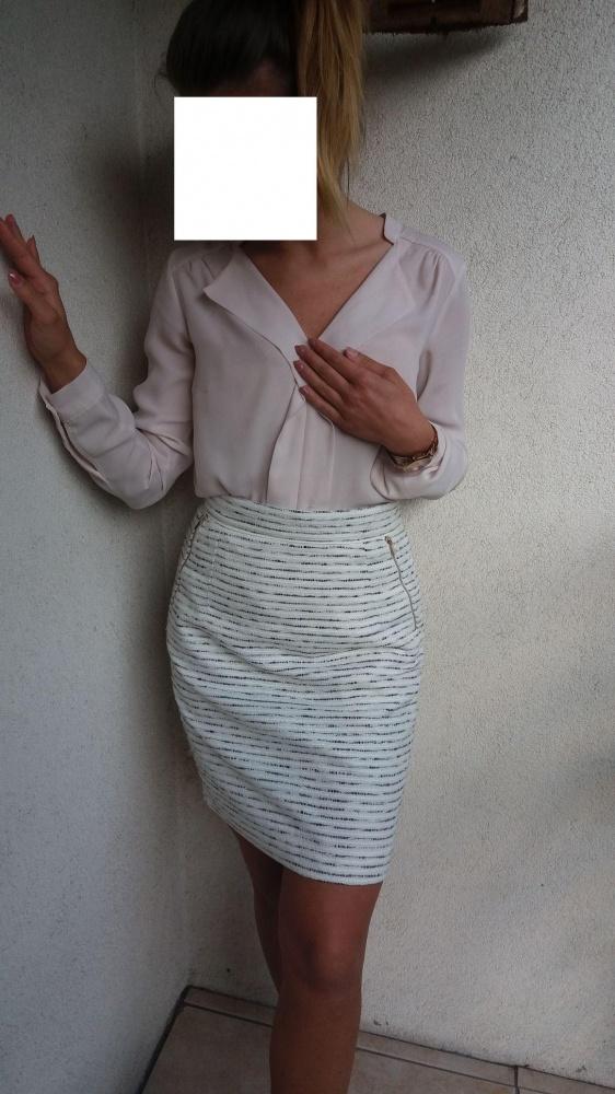Spódniczka h&m wizytowa biała