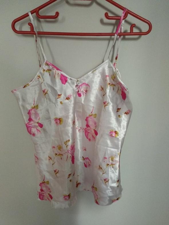 Biała koszula do spania w kwiaty...
