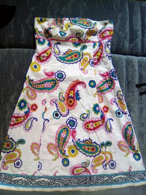 Suknie i sukienki sukienka motyw ludowy etno boho wzory