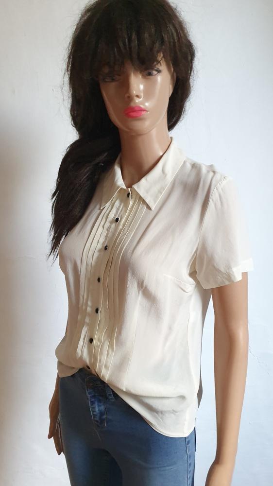 Kremowa koszula na krótki rękawek r M...