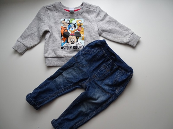 Bluza Disney i jeansy rozm 74...