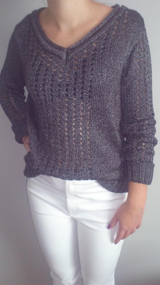 Swetry sweter ażurowy