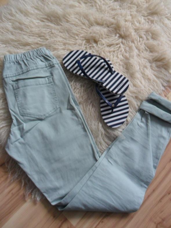 spodnie rurki miętowe