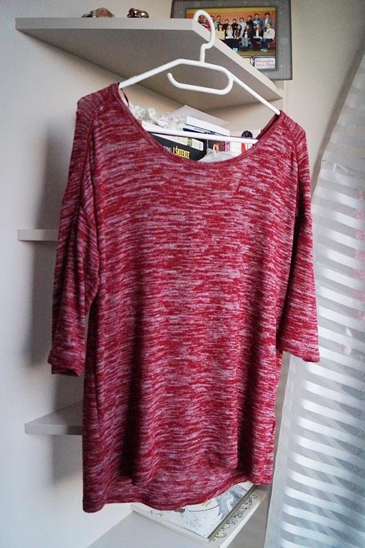 Swetry Melanżowy dłuższy sweterek XS