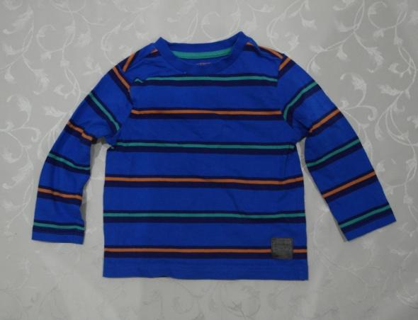 Bluzki Bawełniana bluzeczka granat w paseczki 86 92