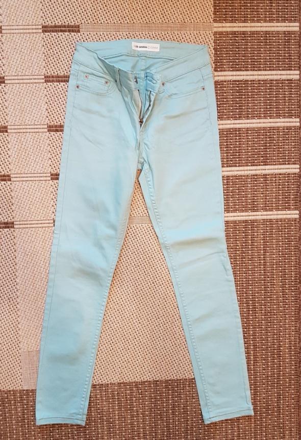 spodnie miętowe rurki cubus