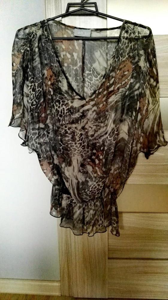 Bluzki Bluzeczka zwiewna elegancka rękaw motyl VALLIS 38 M