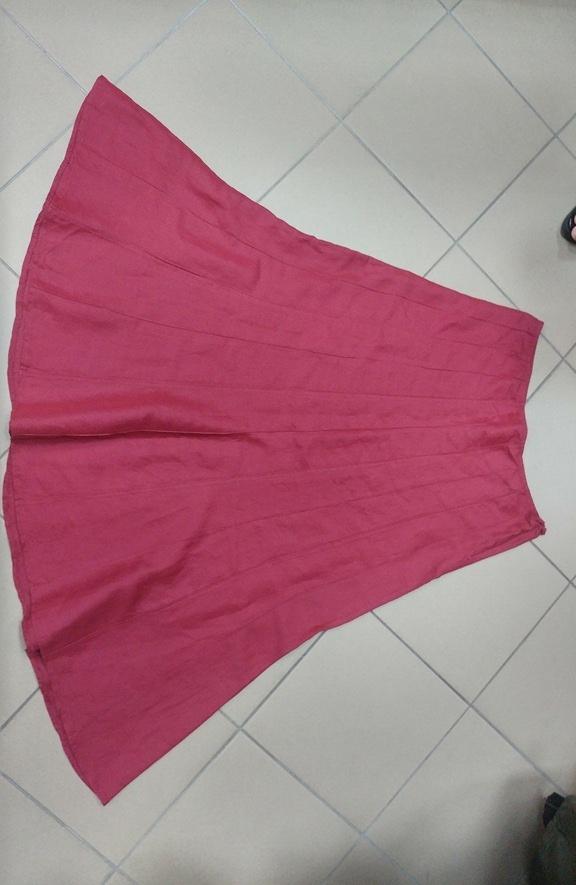Spódnice Czerwona spódnica maxi Per Una len lniana 42