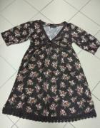 Sukienka brązowa kwiatki KappAhl M 40 42...