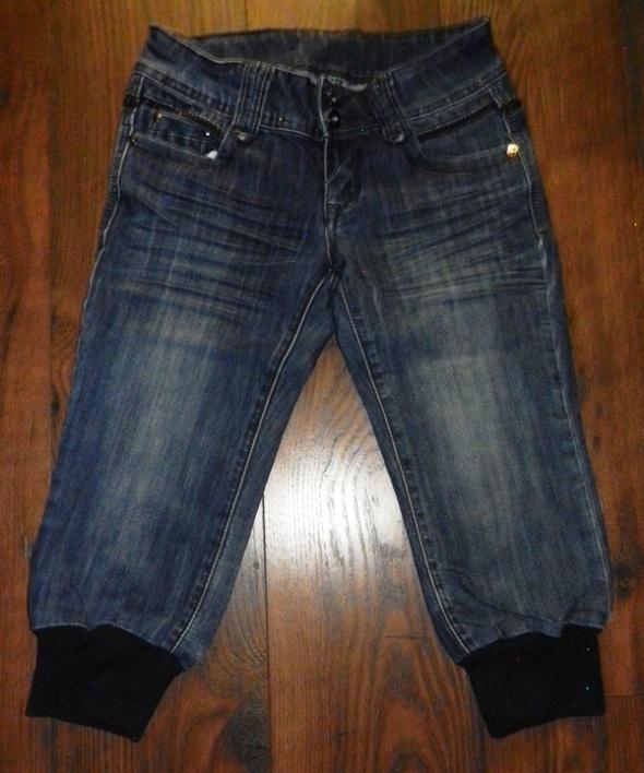 Spodenki Rybaczki jeansowe jeans ściągacz r 27
