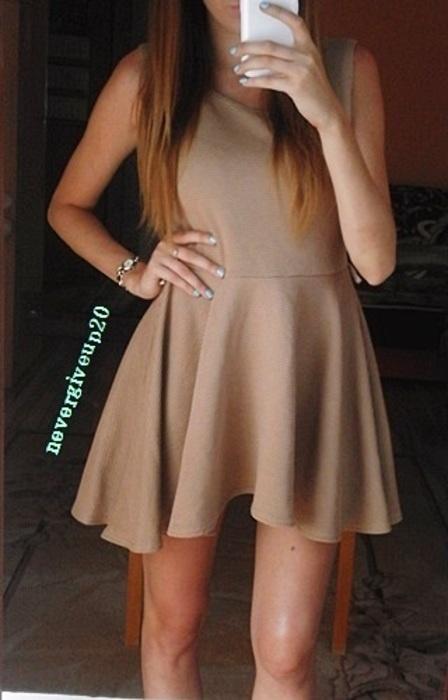 beżowa sukienka boohoo