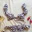 Strój dwuczęściowy z falbankami H&M bikini kwiaty wzór zdobiony modny insta tumblr