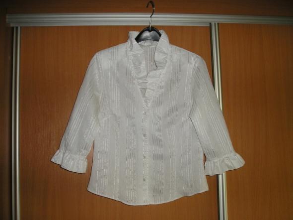 bluzka koszulowa biała 40