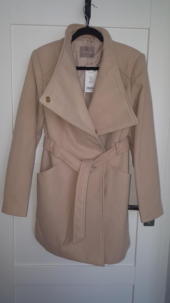 Beżowy płaszcz Orsay rozmiar 40 Nowy