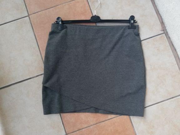 spodnica biodrówka dresowa przekładana szara HM