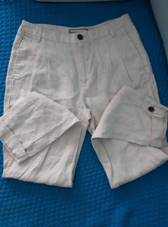 lniane spodnie mango
