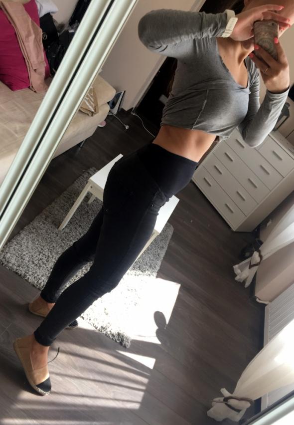 czarne spodnie ciążowe H&M 38