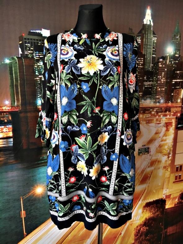 warehouse sukienka luźny fason kwiaty floral zip hit 40 L