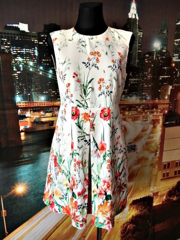 zara sukienka kwiaty floral ala spodenki nowa elegancka 36 S