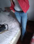 Spodnie rurki jeansy podwyższony stan xs s...