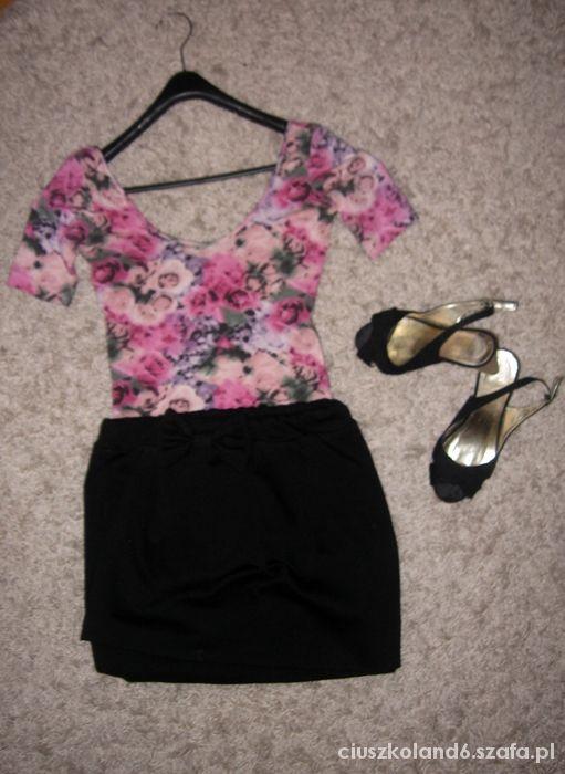 floral bluzeczka śliczna tunika XS S