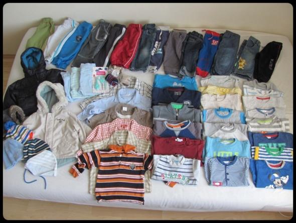 Ponad 50 rzeczy dla chłopca rozmiar 80 duży zestaw ubranek