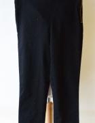Tregginsy Czarne H&M M 38 Wyższy Stan Rurki Spodnie...
