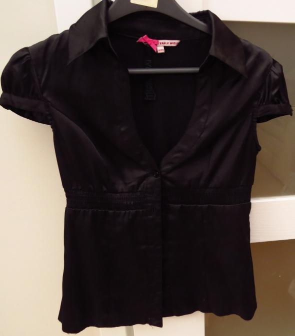 czarna satynowa elegancka bluzka tally weijl...