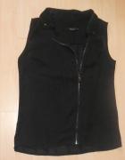 czarna bluzka z zamkiem kołnierzyk