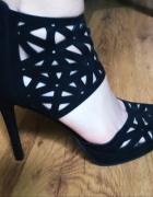 Sandały Catwalk wysokie ażurowe jak nowe rozmiar 37...