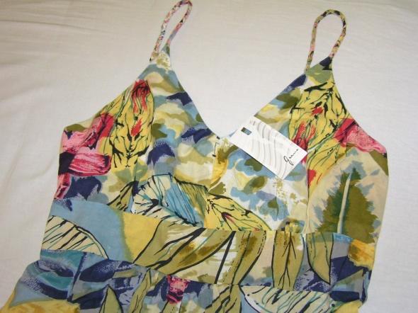 Letnia kolorowa bawełniana sukienka NOWA