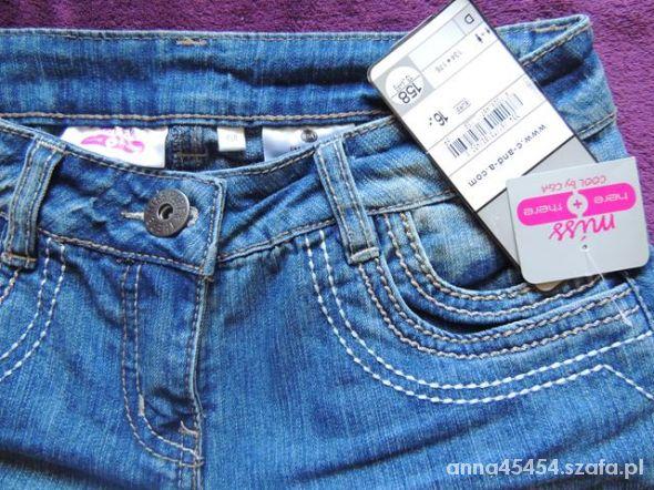 spodnie jeans nowe 158 cm