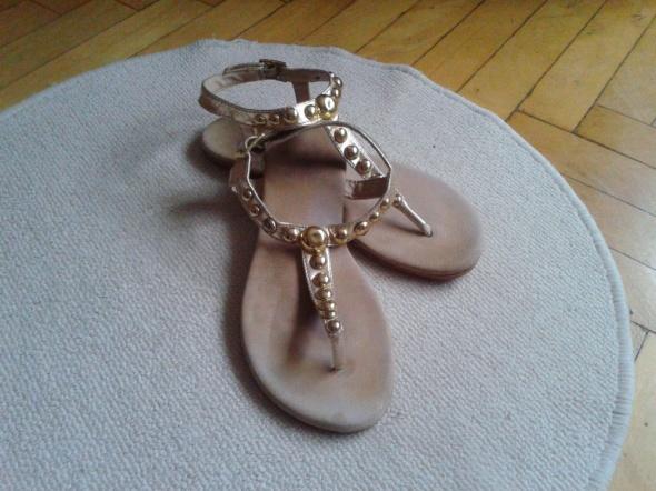 sandały złote rzymianki 39