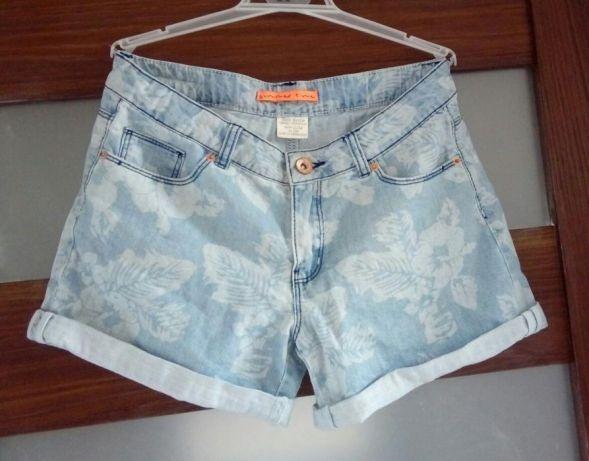 Spodenki jeans kwiatki Zara...