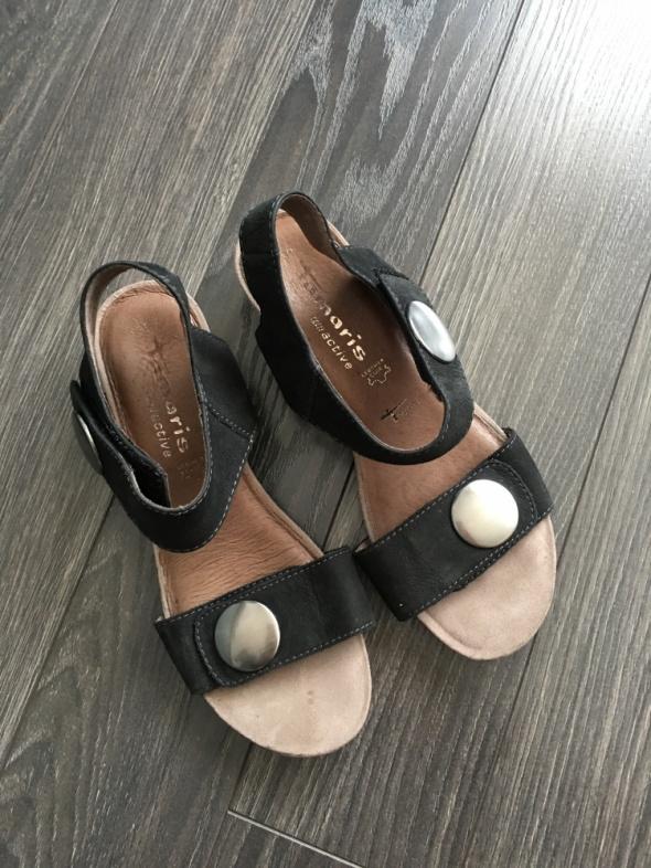 Tamaris skóra świetne lekkie sandałki