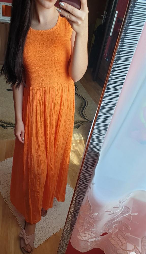 Letnia sukienka maxi bez rękawów zwiewna rozmiar XS S