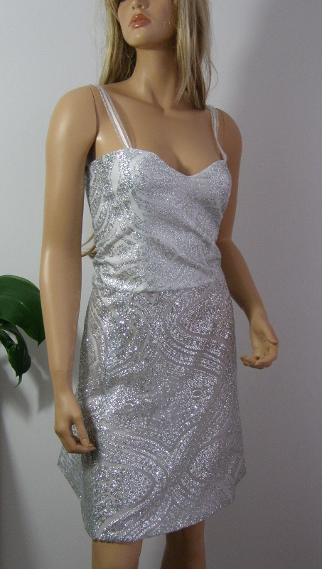 Sukienka cekiny szara srebrna M L święta sylwester wesele