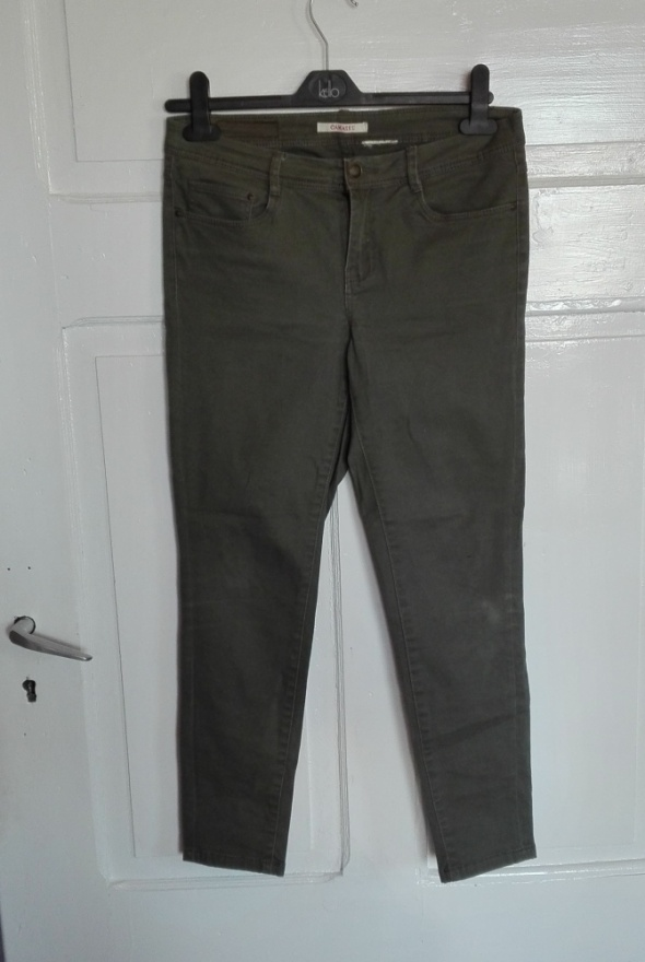 Camaieu spodnie khaki 38