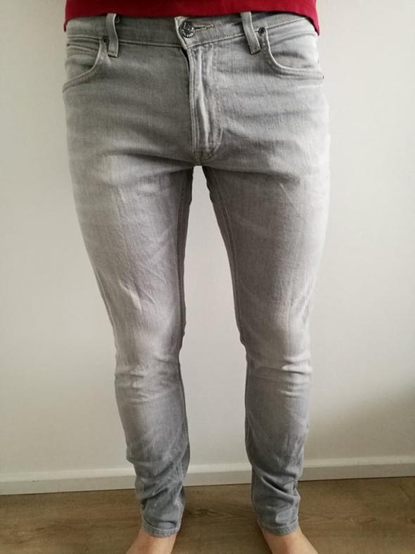szare męskie jeansy Lee 32 na 32