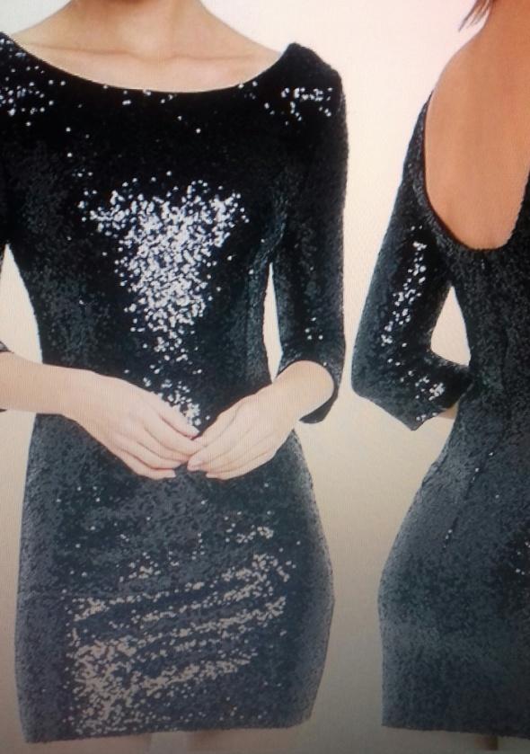 sukienka czarna cekiny...