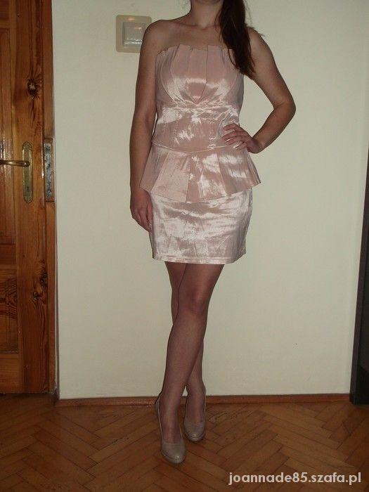 łososiowa sukienka...
