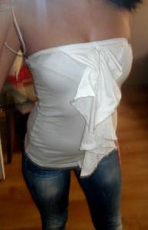 Biały top bluzka falbanki Dorothy Perkins 36 S