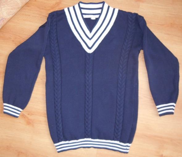 Sweter marynarski granatowy 40 L...