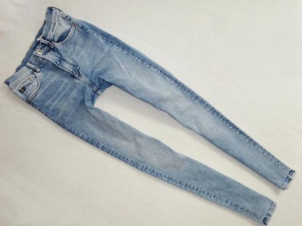 H&M spodnie rurki proste skinny wysoki stan 36 S