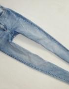 H&M spodnie rurki proste skinny wysoki stan 36 S...